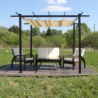 Готовая лаунж-зона KM-3001 с мебелью и полами