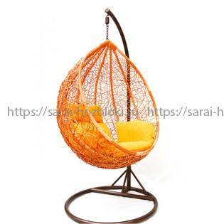 Подвесное кресло KVIMOL KM 0001 большая оранжевая корзина