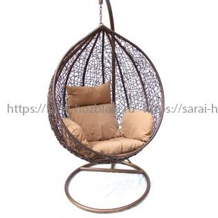 Подвесное кресло KVIMOL KM 0001 малая коричневая корзина