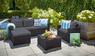 Угловой комплект мебели Муреа (Moorea set unity) серый