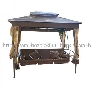 Садовые качели Kvimol KM-083 раскладные коричневые