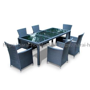Обеденная группа Kvimol КМ-1312 стол и 6 кресел