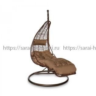 Подвесное кресло КМ1025 коричневое