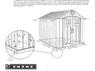 Пластиковый сарай WoodLook 8'x10' (233*(ш)*294(г)*243(в) см)