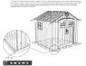 Высокопрочный сарай WoodLook Внешний размер по основанию, см: 238*(ш)*223(г)*243(в)