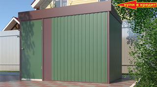 Хозяйственный блок Эконом для насосной станции ширина 3 глубина 1,8 дверь 80