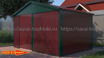 Хозблок Эконом с двухскатной крышей 4х4 м дверь 120