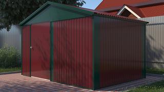 Хозяйственный блок Эконом из профлиста 4х3 м дверь 120