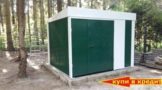 Хозблок Эконом для генератора ширина 3 глубина 2,4 дверь 180