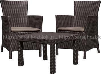 Комплект мебели Розарио балкон (Rosario balcony set) коричневый