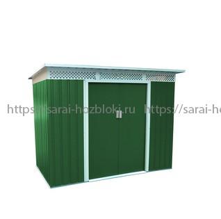Сарай металлический Бэлла В (Ш277хД142хВ184) см. Светло-зеленый