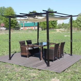 Готовая лаунж-зона KM-3003 с полами и мебелью