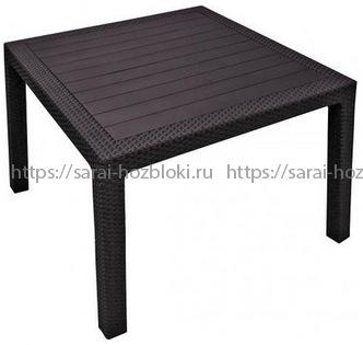 Квадратный стол Мелоди Квартет (Melody quartet) коричневый