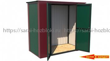 Хозблок Мини с полом ширина 2 глубина 1 дверь 120