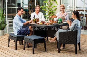Columbia комплект садовой мебели из 7 предметов