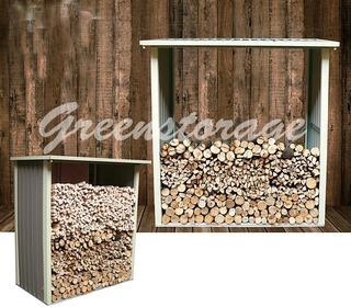 Навес для дров (Д2,42*Ш0,89*В1,90) Цвет зеленый