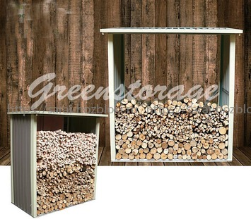 """Навес для дров Greenstorage """"С"""" Д2,90*Ш1,05*В1,90 м. Цвет коричневый"""