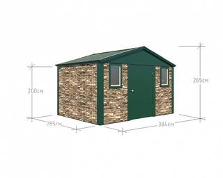 Хозблок Премиум 3,84х2,85 дверь 120 зеленый