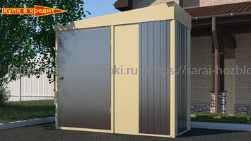 Металлический хозблок Эконом из профлиста для садового инвентаря ширина 2,4 глубина 1 дверь 120