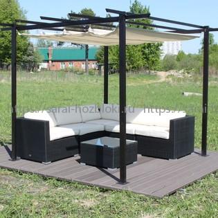 Готовая лаунж-зона KM-3002 с мебелью и полами