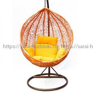 Подвесное кресло Kvimol KM 0001 средняя оранжевая корзина