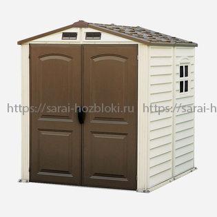 Пластиковый сарай StoreMate 1,9м х 1,9м х 2,13м (Ш х Г х В)