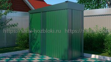 Металлический хозблок Эконом для инвентаря ширина 2,4 глубина 1 дверь 80