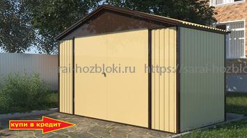 Сарай металлический Эконом 4х2 м дверь 240 см