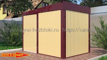 Хозблок Эконом для генератора ширина 3 глубина 2 дверь 120