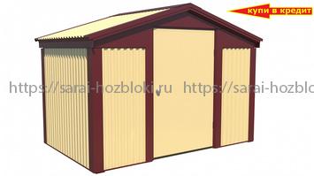 Хозблок Эконом ширина 3 глубина 2 дверь 120