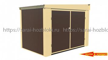 Металлический Хозблок Эконом ширина 3 глубина 2 дверь 240
