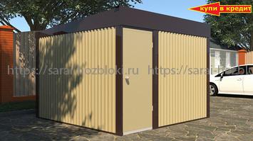 Хозблок Эконом для дачи из профлиста 3х3 м дверь 80 см