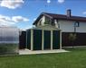 Хозблок металлическийЭконом 3х3 м дверь 80 см