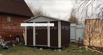 Хозблок металлический Эконом 3х3 м дверь 120 см