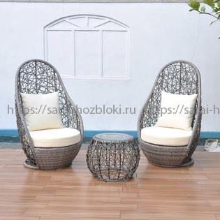 Садовая мебель  Kvimol KM-0049 два кресла и журнальный столик