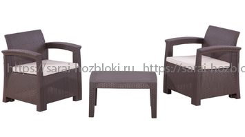 Садовая мебель из пластика RATTAN Comfort 3 Италия