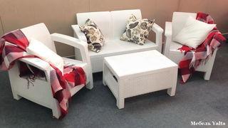 Комплект уличной мебели Yalta Terrace Set белый