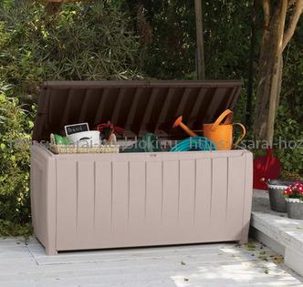 Пластиковый сундук 340 л Novel коричневый
