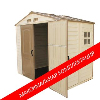 Пластиковый сарай StoreAll МАХ 2,4м х 1,6м х 2,2м (Ш х Г х В).