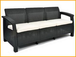 Трехместный диван Corfu Love Seat Max