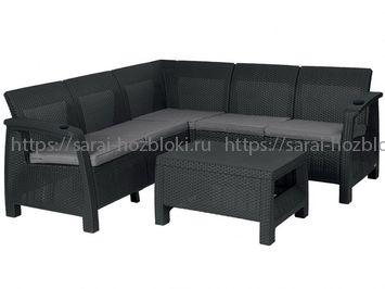 Угловой диван из ротанга Yalta Corner Set без столика